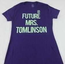 Juniors NEW Purple One Direction 1D Future Mrs. Tomlinson Louis T-Shirt XS S M L