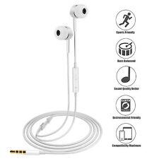 Gold 3.5mm Mic Super Bass Music In ear Stereo Headphone Headset Earphone Earbuds