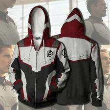 Avengers 4 Endgame 3D Hoodie Sweatshirt Chandail Fermeture éclair Veste Manteaux