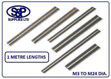THREADED ROD / BAR / STUDDING / ALLTHREAD M3 TO M24 A2 ST/STEEL 1 METRE LONG