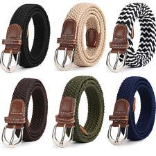 2.5cm Wide Women Men Elastic Rope Webbing Belt Skinny Slim Casual Waist Straps