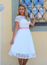 Brautkleid Spitze kurz Hochzeitskleid 34 bis 48 Braut Kleid Standesamt Ivory