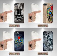 Coque pour,Iphone 4,5,6,7,8,X,Plus,s,c,g,crâne,mexicain,crâne,bois,dark,horro