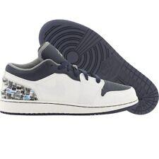$90 Nike  Air Jordan Big Kids 1 I Phat Low (white / stealth / navy) 338146-10