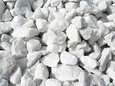 1 Tonne weißer Marmor Ziersplitt Gartenkies Steine edel