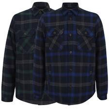 Tokyo Laundry Mens Thick Fleece Lined Check Work Shirt Overshirt Jacket Top Warm