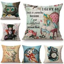 Alice in Wonderland Cushion Cover Cute Rabbit Cat Printed Sofa Pillow Case
