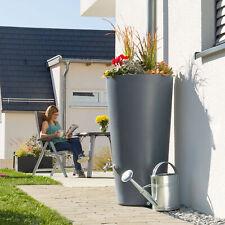 Regentonne grau Regenwassertank Regenwassertonne Rainbowl Flower 150 Liter