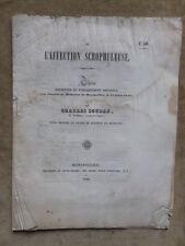 THESE DE MEDECINE.DE L'AFFECTION SCROPHULEUSE.CH. SOUDAN Vendome Loir et Cher