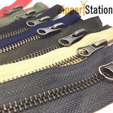 70cms Brass Metal Open End Zip zippers - No 5 Weight - Jacket & Coat Zips
