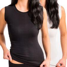 Korsett-Hemd mit Rundhals-Ausschnitt und ohne Arm aus 100% Baumwolle
