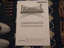 LIBEROGRANDE  NAMCO    game manual