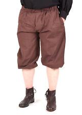 Kniebundhose zum Schnüren, dunkelbraun, Mittelalter Hose Gewandung LARP