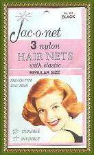 Jac O Net Black retro very thin franch tiny mesh 161 nylon hair 3 nets