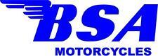 BSA MOTORCYCLES DECAL / STICKER - SET OF 2 - BLUE