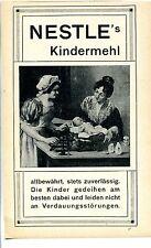Nestle--Kindermehl--altbewährt---Werbung von 1908-