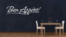 Bon Appetit! Large Kitchen Vinyl Wall Sticker Dinning Room Decal Schools Nursery