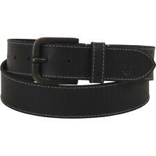 Timberland Men's Oily Milled Black Genuine Leather Belt