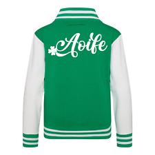 Personalised Name Kids Varsity Jacket American Irish Collage Jacket Ireland