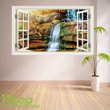 Giungla Cascata di Adesivi Murali Finestra a colore pieno-Salotto Camera Da Letto Wall Art W36