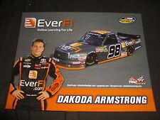 2012 DAKOTA ARMSTRONG #98 EVER FI VERSION 2 NASCAR POSTCARD