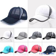 Mens Womens Plain Baseball Hats Trucker Mesh Curved Visor Cap Adjustable Summer