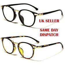 Stunning Quality Round Designer Unisex Womens Mens Clear Lens glasses 054 BNWT