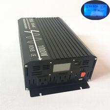 Inverter 1000W Peak 2000W Pure Sine Wave Power Inverter 12V/24V to 120V 60HZ US