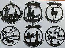 8 tapetes de silueta Feliz Navidad María José Jesús Burro Ciervos Santa