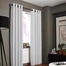1PC GROMMET PANEL ABSOLUTE ROOM DARKENING 100% BLACKOUT WINDOW CURTAIN WHITE