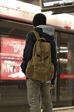 vintage canvas pocket leather camera backpack bag for DSLR EVIL DC Camera E0086
