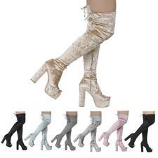 3b0b7b004c2 Thigh-High Women's Velvet Upper   eBay