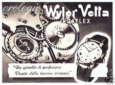 PUBBLICITA' 1948 OROLOGIO WYLER VETTA INGAFLEX GIOIELLO  SVIZZERA WATCH TECNICA