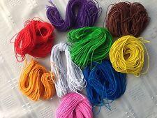 1 mm Redondo Cuerda Elástica Para Sombreros/abalorios/artesanías 25 yardas dividido en dif. Tamaños