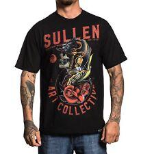SULLEN MATT HEINZ SKULL KNIGHT HELMET ROSE COLOUR PRINT BLACK T SHIRT S-3XL UK