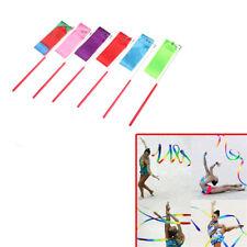 Gym Dance Ribbon Gymnastics Art Ballet Streamer Twirling Rod Outdoor Sport 2M JF