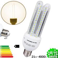 BOMBILLA LED BAJO CONSUMO E27 LUZ NATURAL 4000K AHORRO ENERGIA LAMPARA 21W 1680L