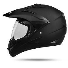 801 B-Ware Schwarz matt Motorradhelm ECE 2205 Motocross Quad Helm Moped MX
