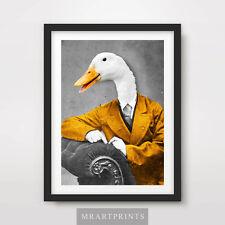 Goose originale Portrait d'Animal Art Imprimé Poster bizarre drôle humour Vintage Canard