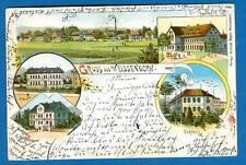 Weissenborn, Farb-Litho m. Gasthaus u. Buchbinderei,
