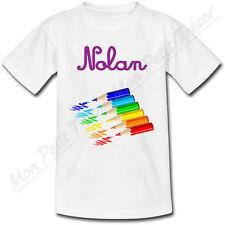 T-shirt Bébé Crayon de Couleur avec Prénom Personnalisé