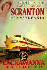 SCRANTON Pennsylvania Lackawanna Railroad PHOEBE SNOW Train Poster Art Print 060