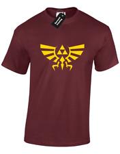 Cresta di Hyrule da Uomo T-Shirt Legend of Zelda Triforce Skyward Shortama Gamer