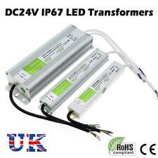 DC24V Waterproof IP67 LED Driver Power Supply Transformer 240V for LED Strip UK