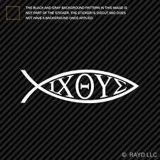 IXOYE Fish Sticker Die Cut Decal jesus christ son of god savior