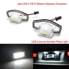 LED License Number Plate Light For Honda Jazz CR-V FR-V Stream Odyssey Crosstour
