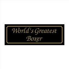 Worlds Greatest Boxer - 200mm X 70mm muestra Plástica / Con Adhesivo-House, Garden