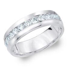 Uomo brillante anello 2.00 CARATI (if/D) irreprensibile diamanti, 750/18k ORO BIANCO