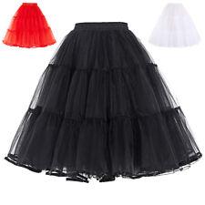 Mujer Vintage Retro Enagua elegante falda Slips AÑOS 50 VESTIDO CON TUTÚ S-XL