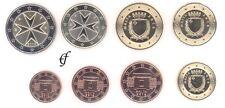 Malta alle 8 Münzen 1 Cent - 2 Euro Kursmünzenset KMS alle Jahre wählen